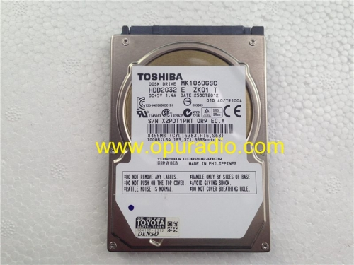 TOSHIBA DISK DRIVE MK1060GSC DISC PLAYER for Toyota Lexus 86271-30681 Denso Navi Porsche Mercedes HDD car audio radio Navigation system