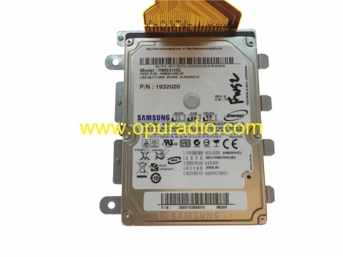 SAMSUNG HARD DISK DRIVE HM031HC 30GB PN 1932020 with Map data for chrysler Dodge NTG4 RE1 Radio Media Nav Bluetooth car GPS audio US Canada